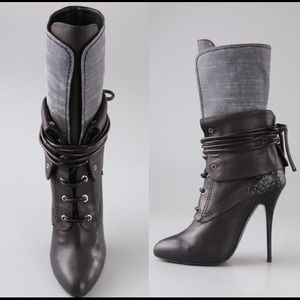 Giuseppe Zanotti Lace Up Cuff Boots